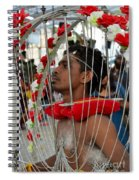 Pierced Hindu Devotee Wears Kavadi At Thaipusam Singapore Spiral Notebook