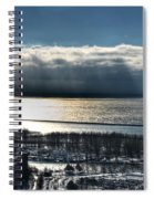 Piercing Cold Rays Upon The Waters Winter 2013 Spiral Notebook