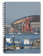 Pierhead Building In Cardiff Bay Spiral Notebook