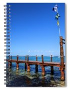 Piering Into The Caribbean Spiral Notebook