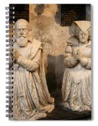 Pierre Jeannin And His Wife Sculpture Cathedral Autun Spiral Notebook
