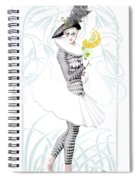 Pierrette In Love Spiral Notebook