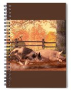 Pig Race Spiral Notebook