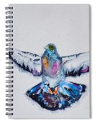 Pigeon In Flight Spiral Notebook