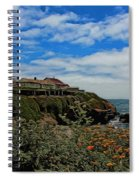 Pigeon Point Lighthouse Painted Spiral Notebook