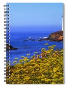 Pigeon Point Lighthouse Panoramic Spiral Notebook