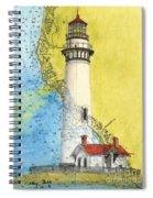 Pigeon Pt Lighthouse Ca Nautical Chart Map Art Spiral Notebook