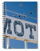 Pigeon Roost Motel Sign Spiral Notebook