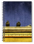 Pigeons On Yellow Roof Spiral Notebook