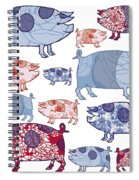Piggy In The Middle Spiral Notebook