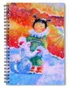 Pigtails And Wagging Tail Spiral Notebook