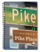 Pike Place Market Sign Spiral Notebook