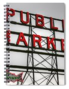 Pike Place Public Market Sign Spiral Notebook