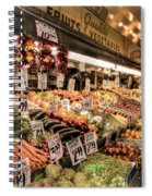 Pike Place Veggies Spiral Notebook