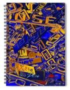 Pile Of Badges 6 Spiral Notebook
