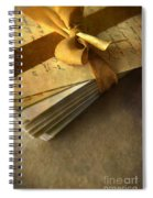 Pile Of Letters With Golden Ribbon Spiral Notebook