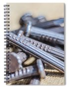 Pile Of Nails Macro Spiral Notebook