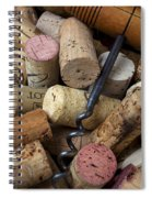 Pile Of Wine Corks With Corkscrew Spiral Notebook