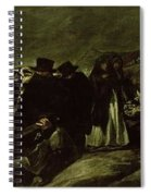 Pilgrimage To San Isidros Fountain, C.18213 Oil On Canvas Spiral Notebook