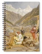 Pilgrims At Gangootree, From India Spiral Notebook