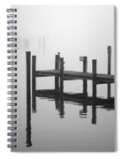 Pilings In The Fog Spiral Notebook