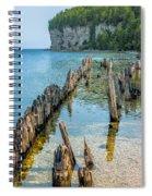 Pilings On Lake Michigan Spiral Notebook