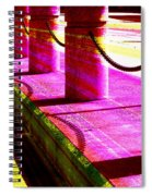 Pillars And Chains - Color Rays Spiral Notebook