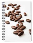 Pills On White Spiral Notebook