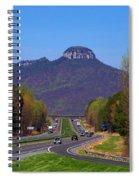 Pilot Mountain From Overlook Spiral Notebook