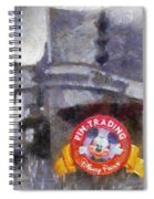 Pin Traders Downtown Disneyland Photo Art Spiral Notebook