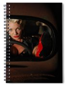Pin Up Girl In A Classic Rat Rod Car Spiral Notebook