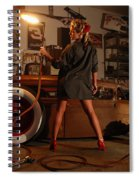 Pin Up Girl With Blow Torch Spiral Notebook