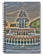 Color Filled Pineapple Spiral Notebook