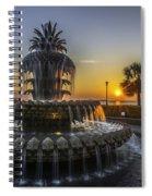 Pinapple Fountain Charleston Sc Sunrise Spiral Notebook