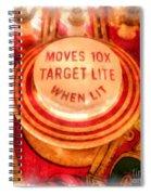 Pinball Machine Watercolor Spiral Notebook