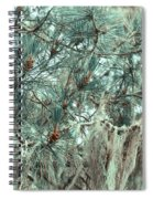 Pine Cones And Lace Lichen Spiral Notebook