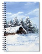 Pine Forest In Winter Spiral Notebook