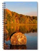 Pine Lake Reflection 3 Spiral Notebook