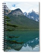 Pine Over Emerald Lake Reflection In Yoho National Park-british Columbia-canada Spiral Notebook