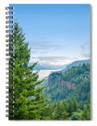 Pine Tree And Columbia River Gorge Spiral Notebook