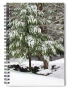 Pine Tree Covered With Snow 2 Spiral Notebook