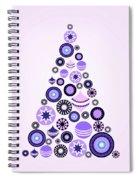 Pine Tree Ornaments - Purple Spiral Notebook