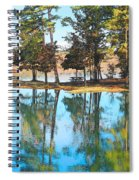 Pine Tree Water Reflections Spiral Notebook