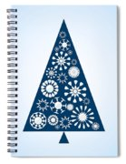 Pine Tree Snowflakes - Blue Spiral Notebook