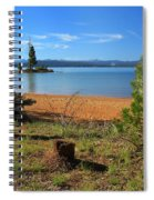 Pine Trees In Lake Almanor Spiral Notebook