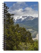 Pine Trees In The Rocky Mountain National Park Spiral Notebook