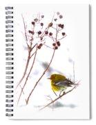 Pine Warbler-img-2143-001 Spiral Notebook