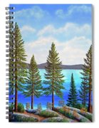 Pine Woods Lake Tahoe Spiral Notebook