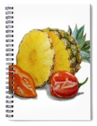 Pineapple And Habanero Peppers  Spiral Notebook