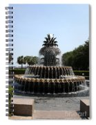 Pineapple Fountain Charleston River Park Spiral Notebook